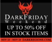 Dark Regions Dark Friday Weekend