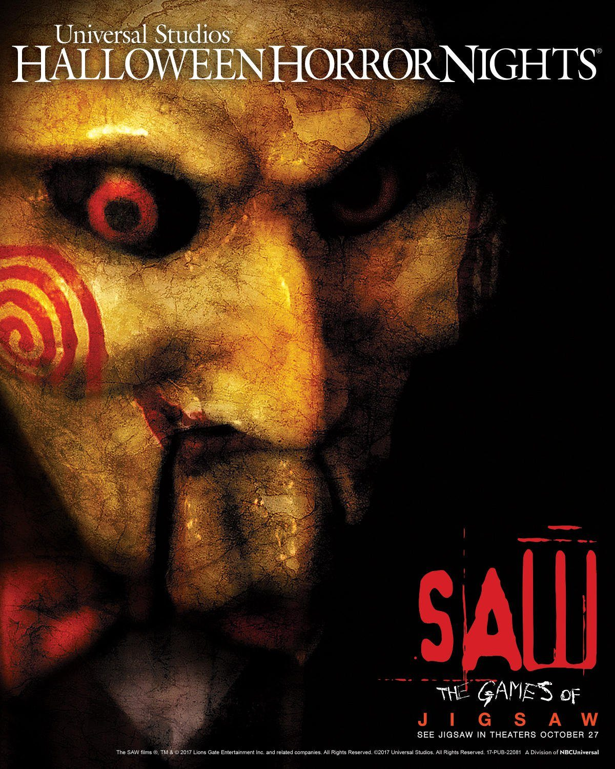 the saw series one of the highest grossing horror film franchises of all time makes its return to halloween horror nights bringing the blockbusters
