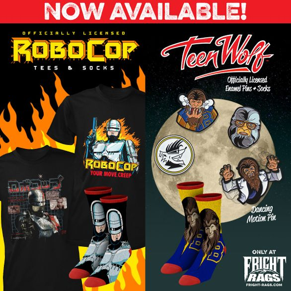 Fright-Rags Kicks Off 2019 with 'Robocop,' 'Teen Wolf,' 'Vampira,' & More Merch