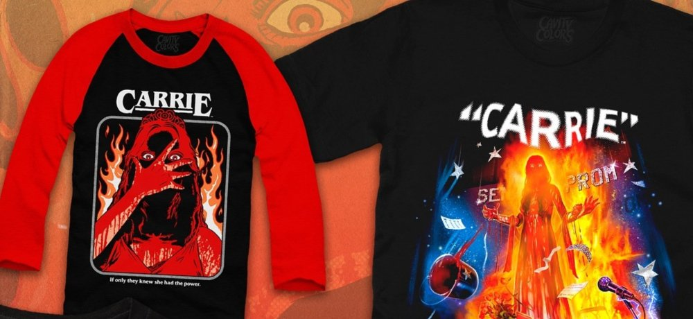 New 'Carrie' Apparel Collection from Cavitycolors Celebrates Stephen King's 1974 Novel and the 1976 Movie