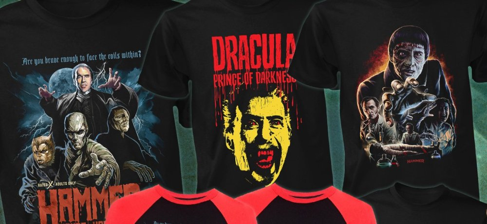Fright-Rags Celebrates the Iconic Characters of Hammer Horror Films with New Apparel Collection