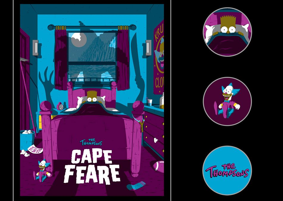 """Monsters Ink! Has Released """"Cape Feare"""" Pins That Simpsons Fans Will Love!"""