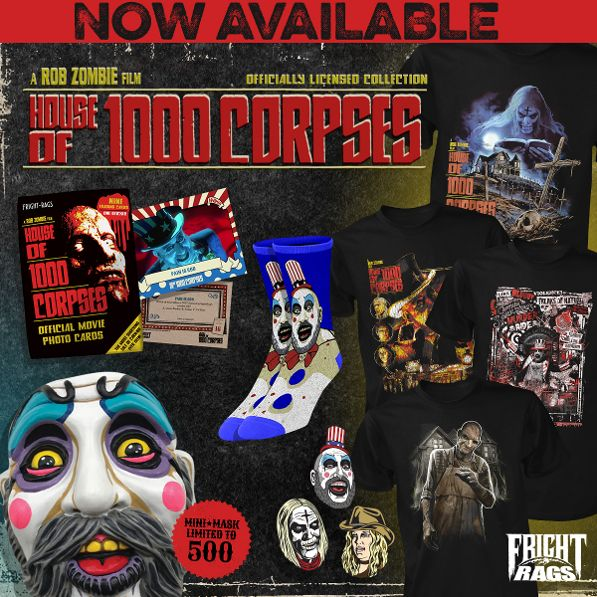 Fright-Rags Enters Rob Zombie's 'House of 1000 Corpses' with New Merch