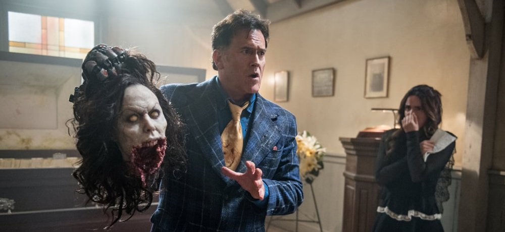 Watch an Exclusive Behind-the-Scenes Blu-ray Bonus Feature Clip from 'Ash VS Evil Dead' Episode 3.03