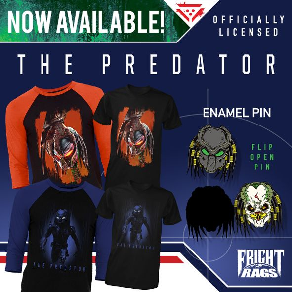 'The Predator' Official Merchandise Released by Fright-Rags
