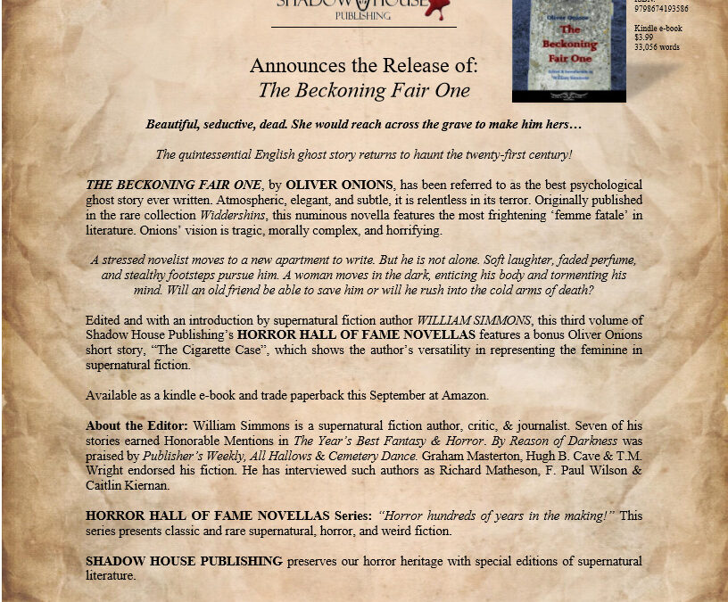 Press Release: THE BECKONING FAIR ONE